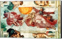 Sistine Chapel Ceiling: Creation of the Sun and Moon, 1508-12 Fine Art Print