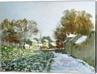 Snow at Argenteuil, 1874 Fine Art Print
