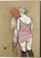 Two Semi-Nude Women at the Maison de la Rue des Moulins, 1894 Fine Art Print