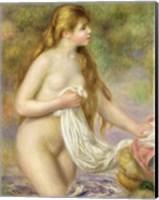 Bather with long hair, c.1895 Fine Art Print