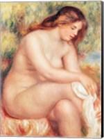 Bather Drying Herself Fine Art Print