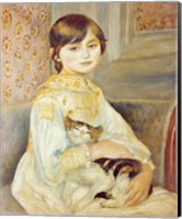 Julie Manet with Cat, 1887 Fine Art Print