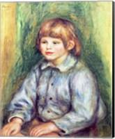 Seated Portrait of Claude Renoir Fine Art Print