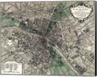Plan de Paris - green Fine Art Print