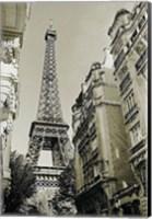 Eiffel Tower Street View #1 Fine Art Print