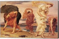 Greek Girls Picking up Pebbles Fine Art Print