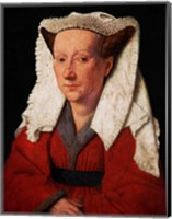Portrait of Margaret van Eyck, 1439 Fine Art Print