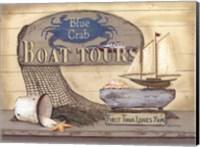 Blue Crab Boat Tours Fine Art Print