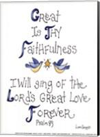 Great is Thy Faithfulness Fine Art Print