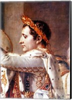 The Consecration of the Emperor Napoleon and the Coronation of the Empress Josephine, detail of Napoleon Fine Art Print