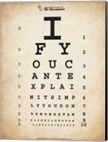 Einstein Eye Chart II Fine Art Print