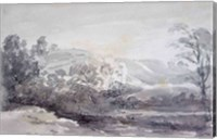 A View in Derbyshire Fine Art Print