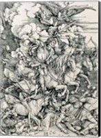 The Four Horsemen of the Apocalypse, Death, Famine, Pestilence and War Fine Art Print