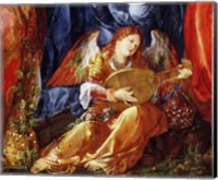 The Festival of the Rosary, detail of the angel musician, 1506 Fine Art Print