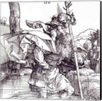 St.Christopher carrying the Infant Christ, 1511 Fine Art Print
