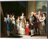 Charles IV and his family, 1800 Fine Art Print