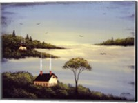 Salt Box by the Lake I Fine Art Print