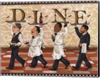 Waiters Dine Fine Art Print
