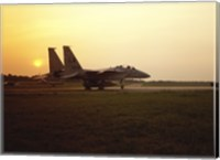 US AIR FORCE, F-15 EAGLE FIGHTER JET Fine Art Print