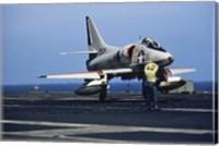 U.S. Navy McDonnell Douglas A-4 Skyhawk Jet Fighter Fine Art Print