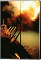 Mark-7 Guns fired from the USS Missouri Fine Art Print