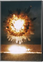 San Clemente, CA The Explosion From A BGM-109 Tomahawk Missle Fine Art Print