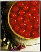 Close-up of a cherry covered cheesecake Fine Art Print