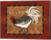 Rooster Blanc Fine Art Print