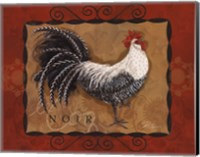 Rooster Noir Fine Art Print
