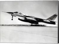 Side profile of a bomber plane taking off, B-58 Hustler Fine Art Print