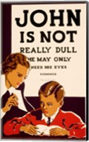John is Not  Really Dull, WPA Poster, ca. 1937 Fine Art Print