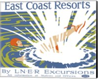 East Coast Resorts - London & North Eastern Railway circa 1930 Fine Art Print