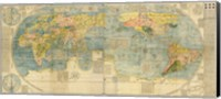 Japanese World Map Fine Art Print