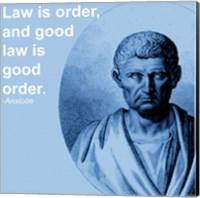 Aristotle Law Quote Fine Art Print