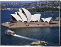 High angle view of an opera house, Sydney Opera House, Sydney, Australia Fine Art Print