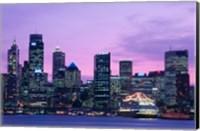 Skyscrapers in a city, Circular Quay, Sydney, Australia Fine Art Print
