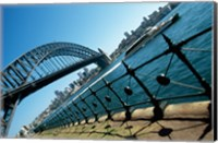 Low angle view of a bridge at a harbor, Sydney Harbor Bridge, Sydney, New South Wales, Australia Fine Art Print