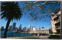 Buildings on the waterfront, Sydney, New South Wales, Australia Fine Art Print