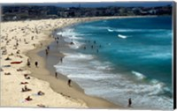 High angle view of tourists on the beach, Sydney, New South Wales, Australia Fine Art Print