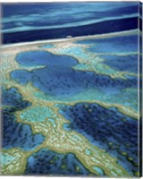 Aerial view of a coastline, Great Barrier Reef, Australia Fine Art Print