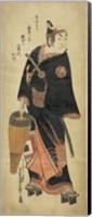 Samurai In Black Fine Art Print