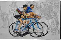 Murales coppi bicycles Fine Art Print
