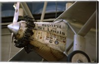 Close-up of an aircraft displayed in a museum, Spirit of St. Louis, National Air and Space Museum, Washington DC, USA Fine Art Print