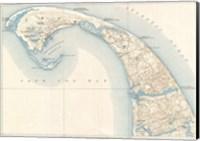 1908 U.S. Geological Survey Map of Provincetown, Cape Cod, Massachusetts1908 Fine Art Print
