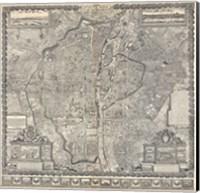 1652 Gomboust Map of Paris, France Fine Art Print