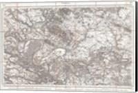 1852 Depot de Guerre Map of Paris and its Environs, France Fine Art Print