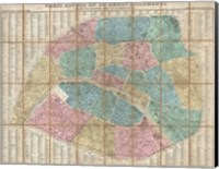 1867 Logerot Map of Paris, France Fine Art Print