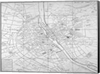 Paris map circe 1739 Fine Art Print