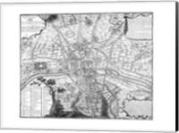 Plan de Paris - black and white Fine Art Print
