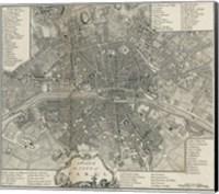 Plan Paris Stockdale Fine Art Print